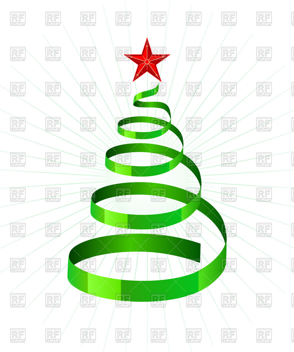 Spiral clipart christmas tree Spiral clipart christmas  tree