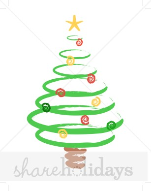 Spiral clipart christmas tree Clipart Swirl Christmas Clipart Christmas