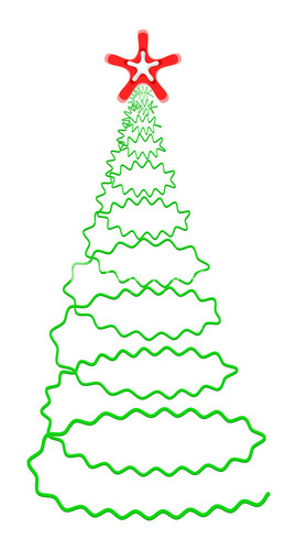 Spiral clipart christmas tree Tree Design 3d Image Tree