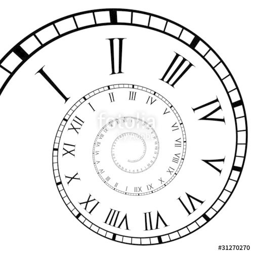 Spiral clipart clock Roman royalty Clock Roman Stock