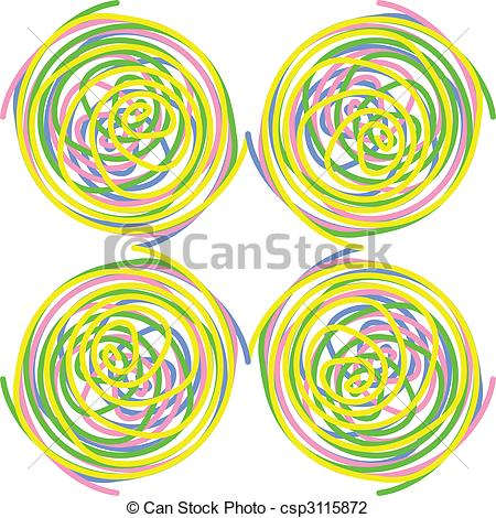 Spiral clipart colourful Colourful of Illustration spirals colourful