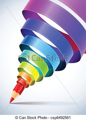 Spiral clipart colourful Pencil with Art coloured with