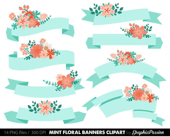 Spiral clipart mint Invitation Scrapbooking to Peach Items