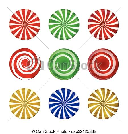 Spiral clipart mint Christmas Vectors  set Spiral