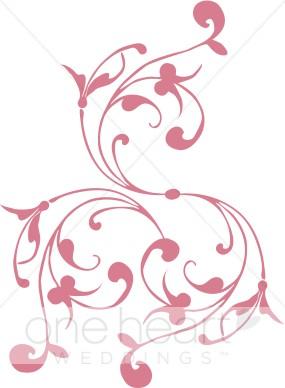 Spiral clipart twirl Flourish Pink Pink Clipart Clipart