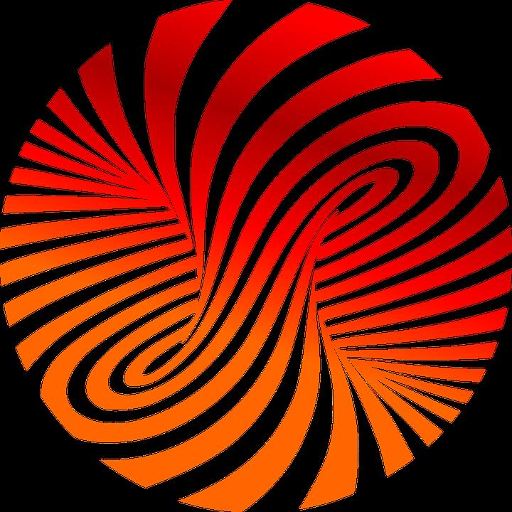 Spiral clipart pixel Tornado Strudel Eddy Spiral Red