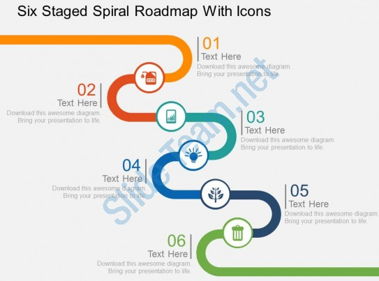 Spiral clipart powerpoint Slide Icons Clipart With Six