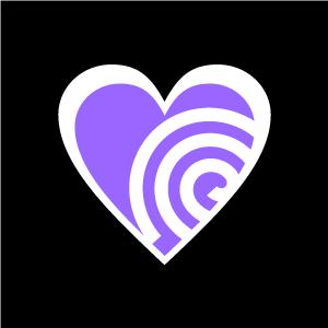Spiral clipart purple Heart Clipart Black Black Purple