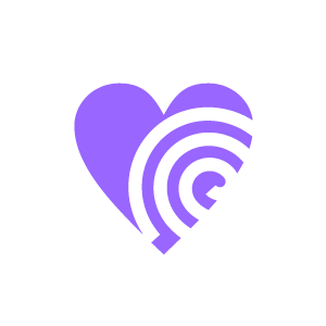 Spiral clipart purple  Spiral Black Heart with