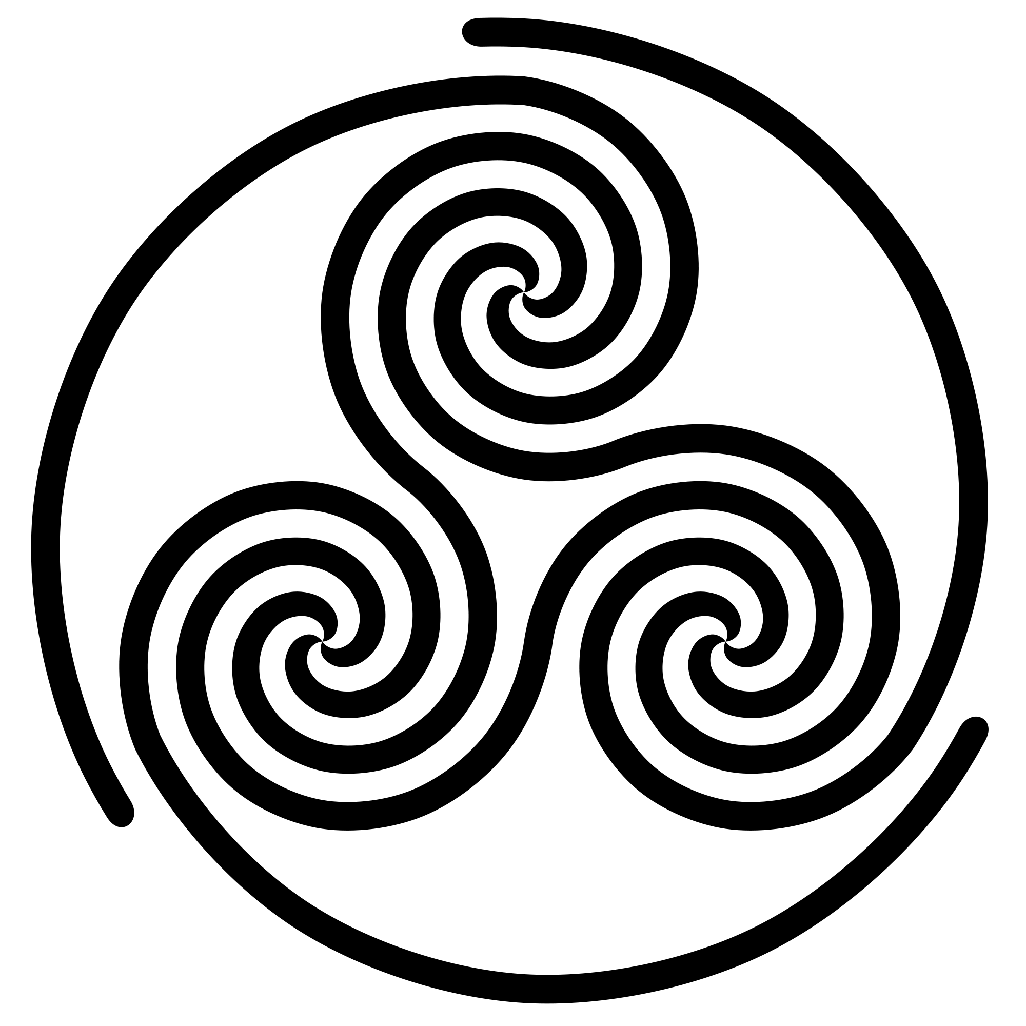 Spiral clipart simple File:Triple Commons Spiral svg simple