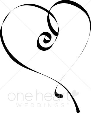 Spiral clipart single Single Spiral Scribbles Heart Single