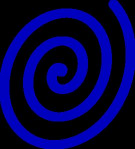 Spiral clipart twirl Clip Clip Blue Twirl Art