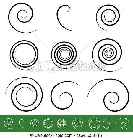 Spiral clipart vortex Vortex circular shapes 9 Spiral