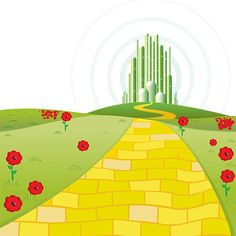 Spiral clipart yellow brick road Of by clipart follow RoadEmerald