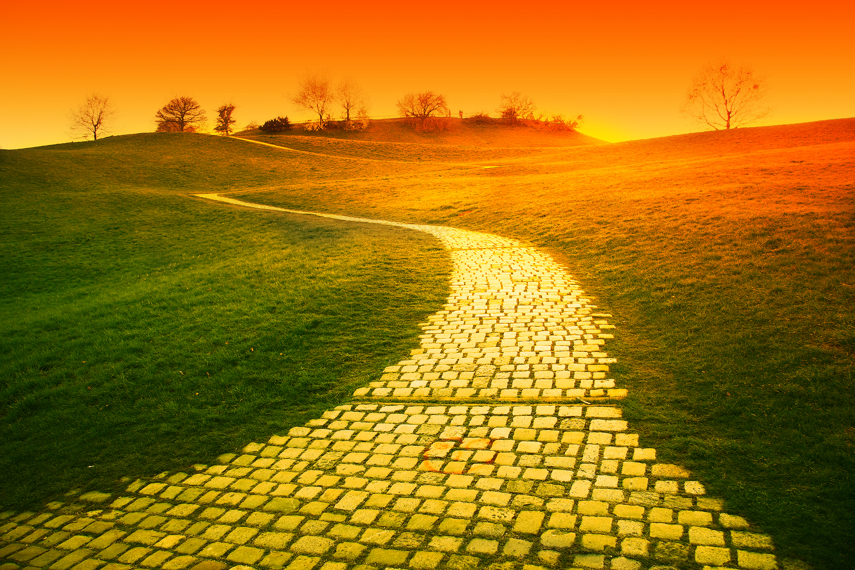 Spiral clipart yellow brick road Brick road the ideas women