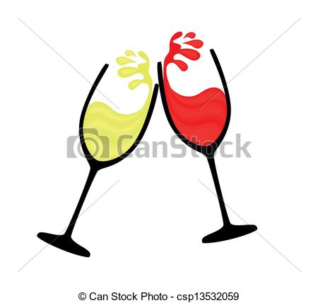 Wine clipart logo And white red wine of