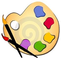 Splatter clipart art supply Supplies Clipart Craft Free Panda