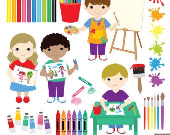 Splatter clipart art supply Supplies Party Digital Clipart Clipart