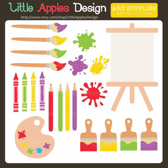 Splatter clipart art supply / Supplies Clip Art Clip