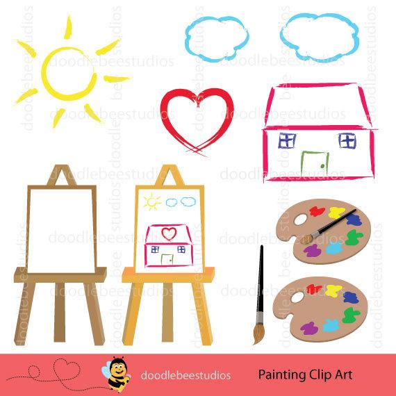Splatter clipart artist painting A Paint Clipart digital Paint