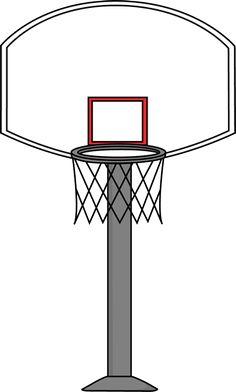 Basket clipart basketball practice Gray art a goal family