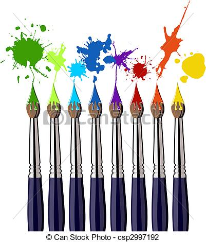 Color clipart paintbrush And and Illustration of csp2997192