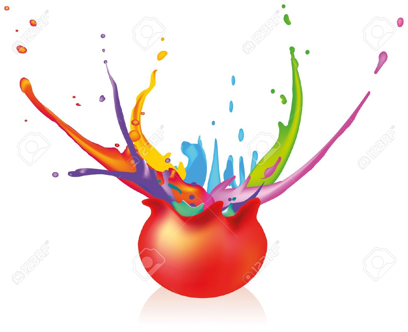 Splatter clipart burst Illustrations background 1300x1057 Splashing no