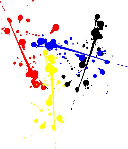 Splatter clipart colour splash Art Clker com Color at