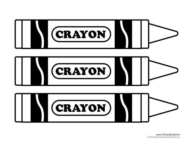 Crayon clipart outline  Tag Crayon on Free