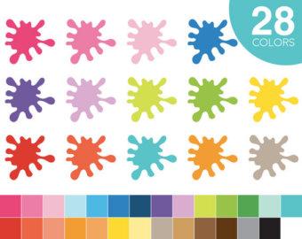 Splatter clipart painting material Clipart splash Splash clipart party