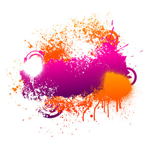 Splatter clipart painting material And Orange Purple Splatters And