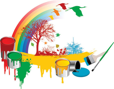 Splatter clipart painting material Cliparts Tree Rainbow  Dayan