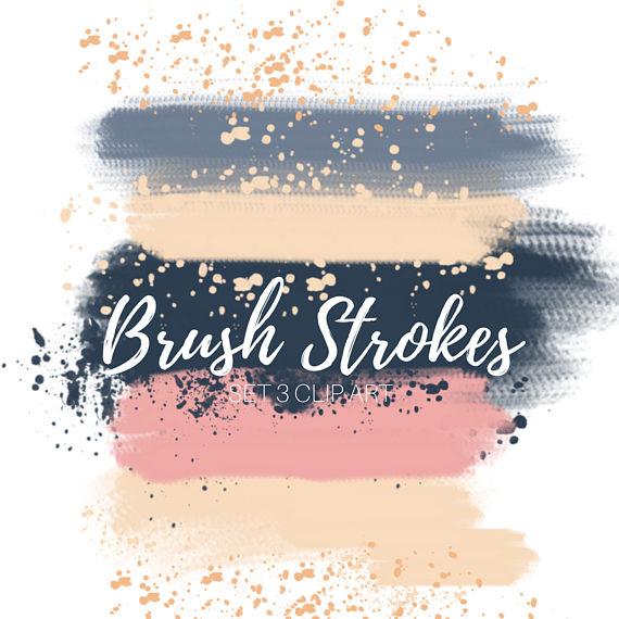 Splatter clipart painting material Paint art brush stroke clip