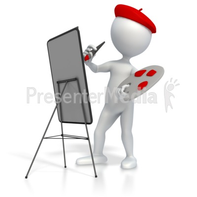 Splatter clipart painting tool And Palette Painting Great Presentation