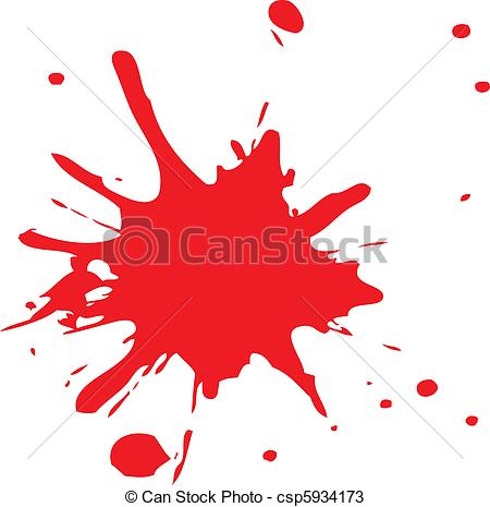 Blood clipart splater Red Vector or of ink