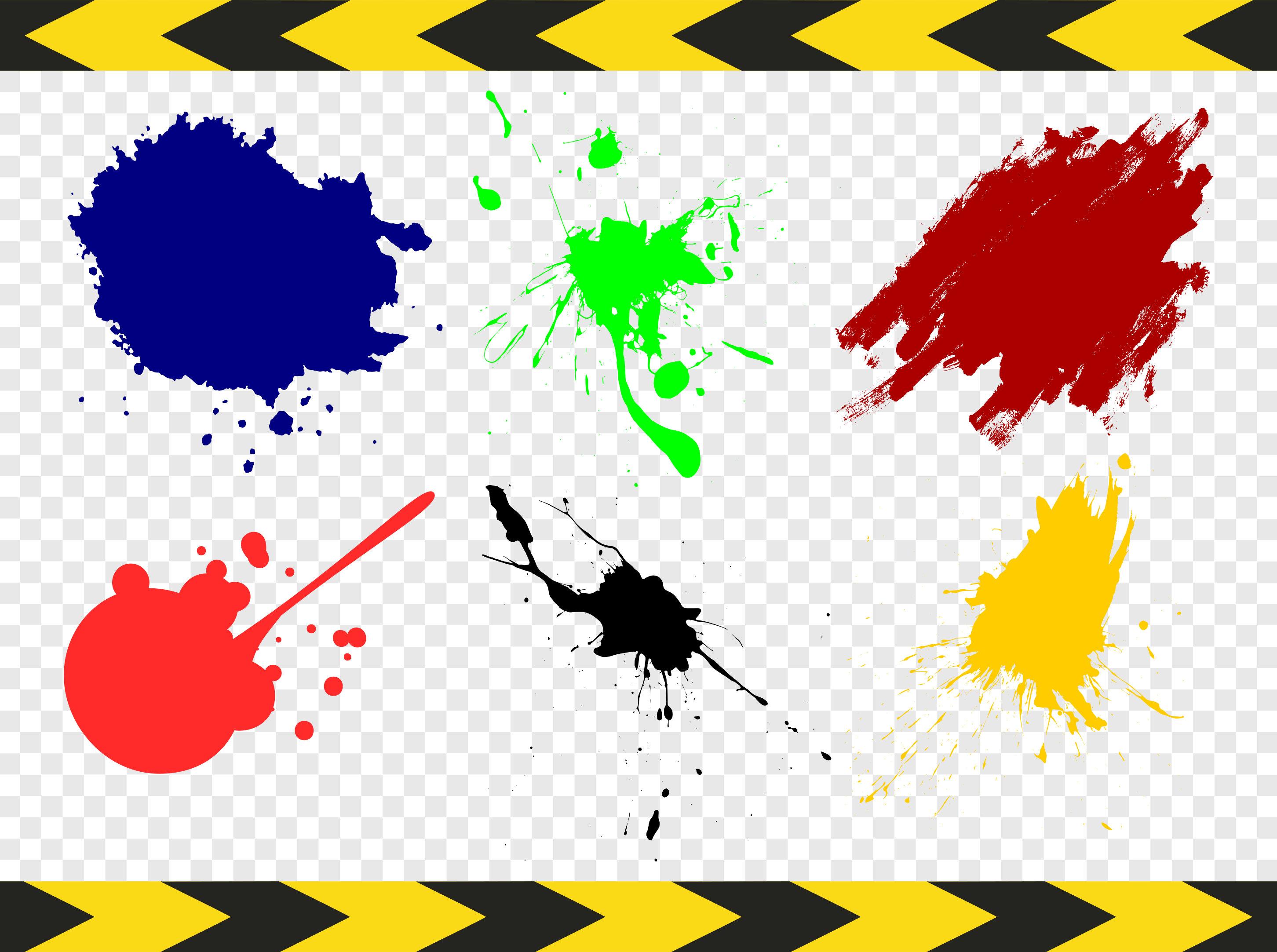 Splatter clipart silhouette Bundle Cricut Paint This Silhouette