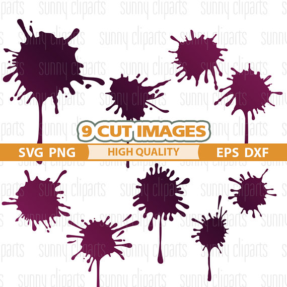 Splatter clipart silhouette Cameo Print Svg from Svg