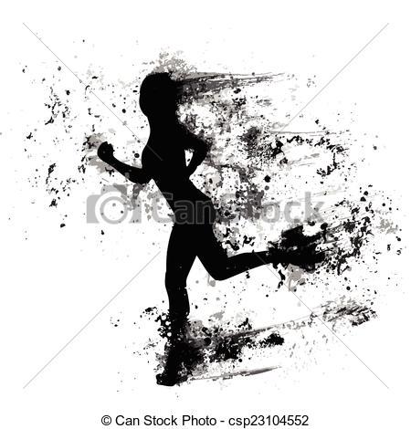 Splatter clipart silhouette Woman Vector splash Vector of