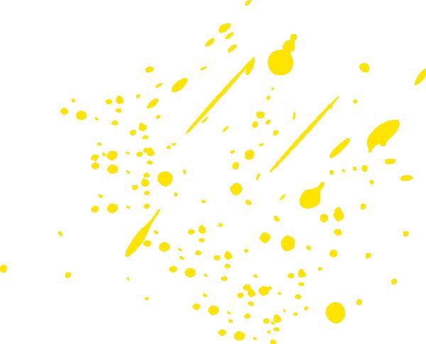 Yellow clipart paint splash Online Art Splatter Download com