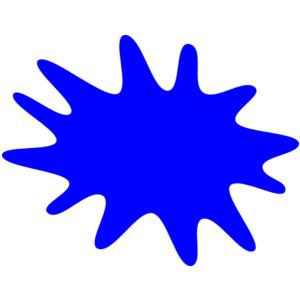 Splatter clipart spilled paint Blue clip splatters Splatter Finger