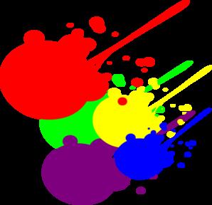 Painting clipart paint splatter  at online Clker Art