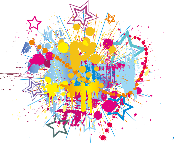 Splatter clipart splatter effect Download paint Vector clipart Bright