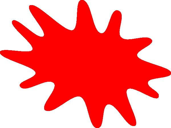 Splatter clipart tomato Image Clker vector Clip Red