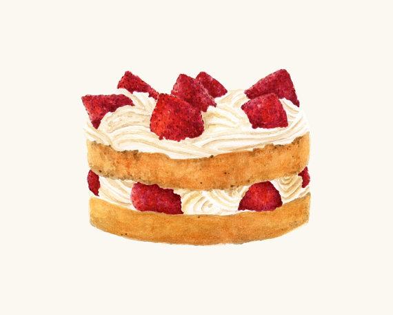 Sponge Cake clipart By Victorian Sponge Cake ForestSpiritArt