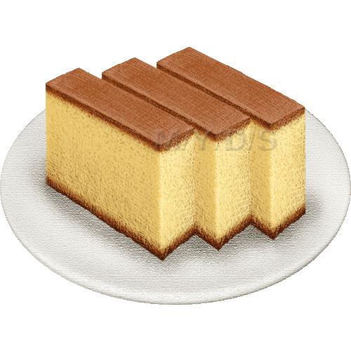 Sponge Cake clipart / clip Castella Free (Japanese