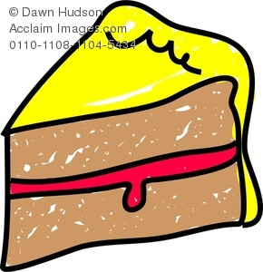 Sponge Cake clipart A and With Clipart Cake
