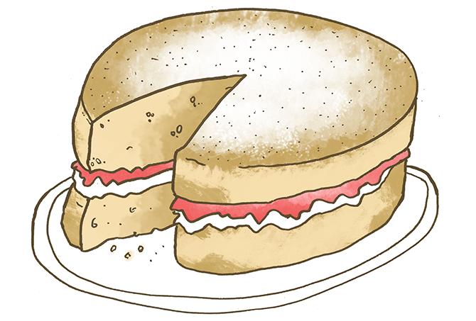 Sponge Cake clipart cartoon Illustration Victoria Sandwich sandwich Recipe