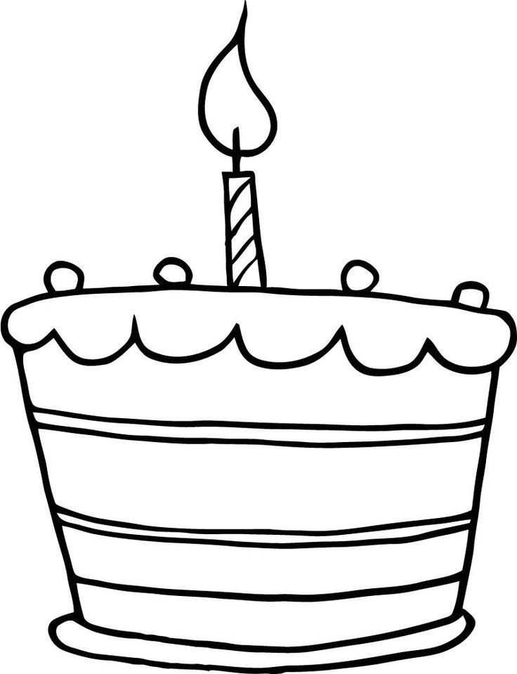Simple clipart birthday cake #9