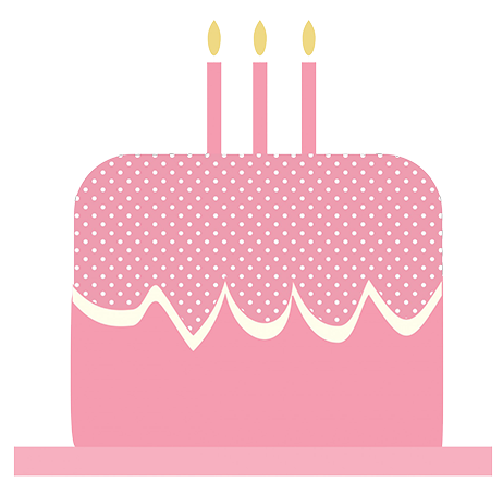 Sponge Cake clipart Pink and cake candles art