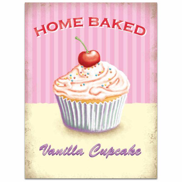 Pice clipart vanilla cupcake Retro Sign CUPCAKE on GRAPHIC